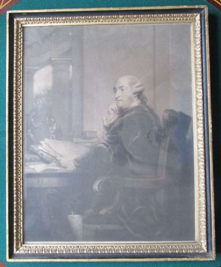 Sir Joshua Reynolds Antique Mezzotint 3rd Duke of Portland 1785 Original Frame